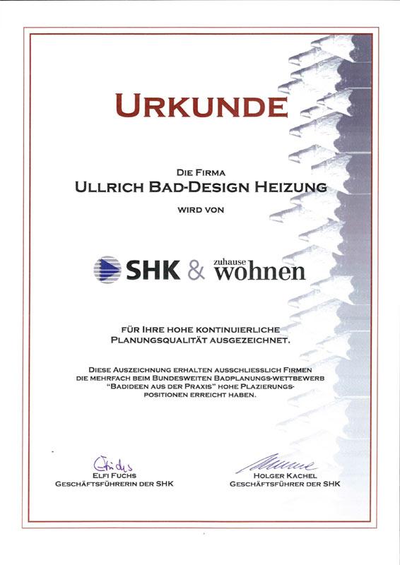 Auszeichnung für hohe kontinuierliche Planungsqualität 2008