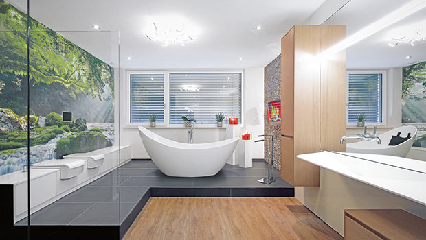 Ein einzigartiges Bad gestalten - wie im Regenwald