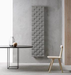 Beispiel eines Designheizkörpers für den Wohnbereich. Foto: Caleido